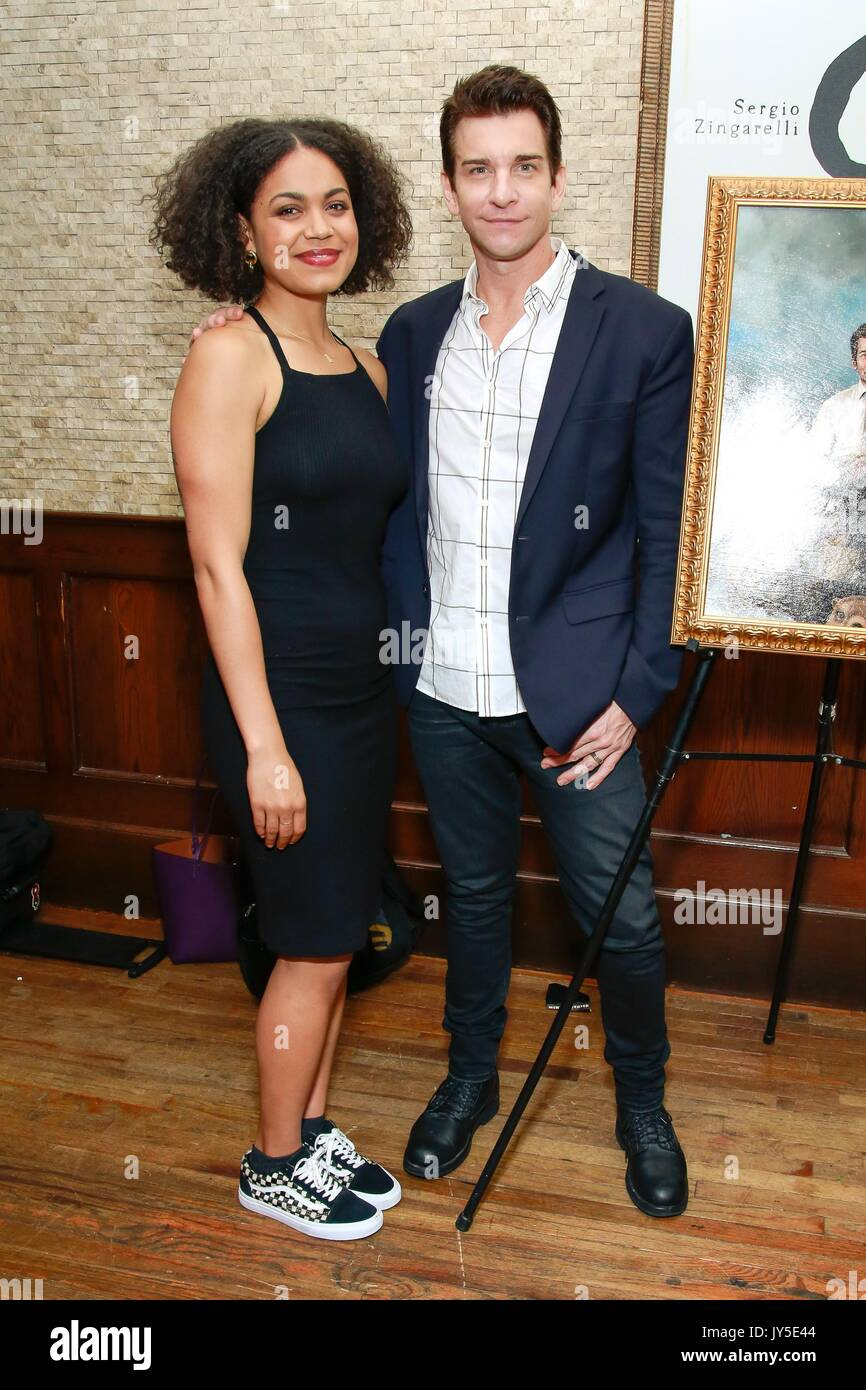 New York, NY, USA. 17th Aug, 2017. Rheaume Crenshaw, Andy Karl at a public appearance for Andy Karl and Groundhog Day Portrait Unveiling at Tony's di Napoli Broadway Wall of Fame, Tony's di Napoli Restaurant, New York, NY August 17, 2017. Credit: Jason Mendez/Everett Collection/Alamy Live News - Stock Image