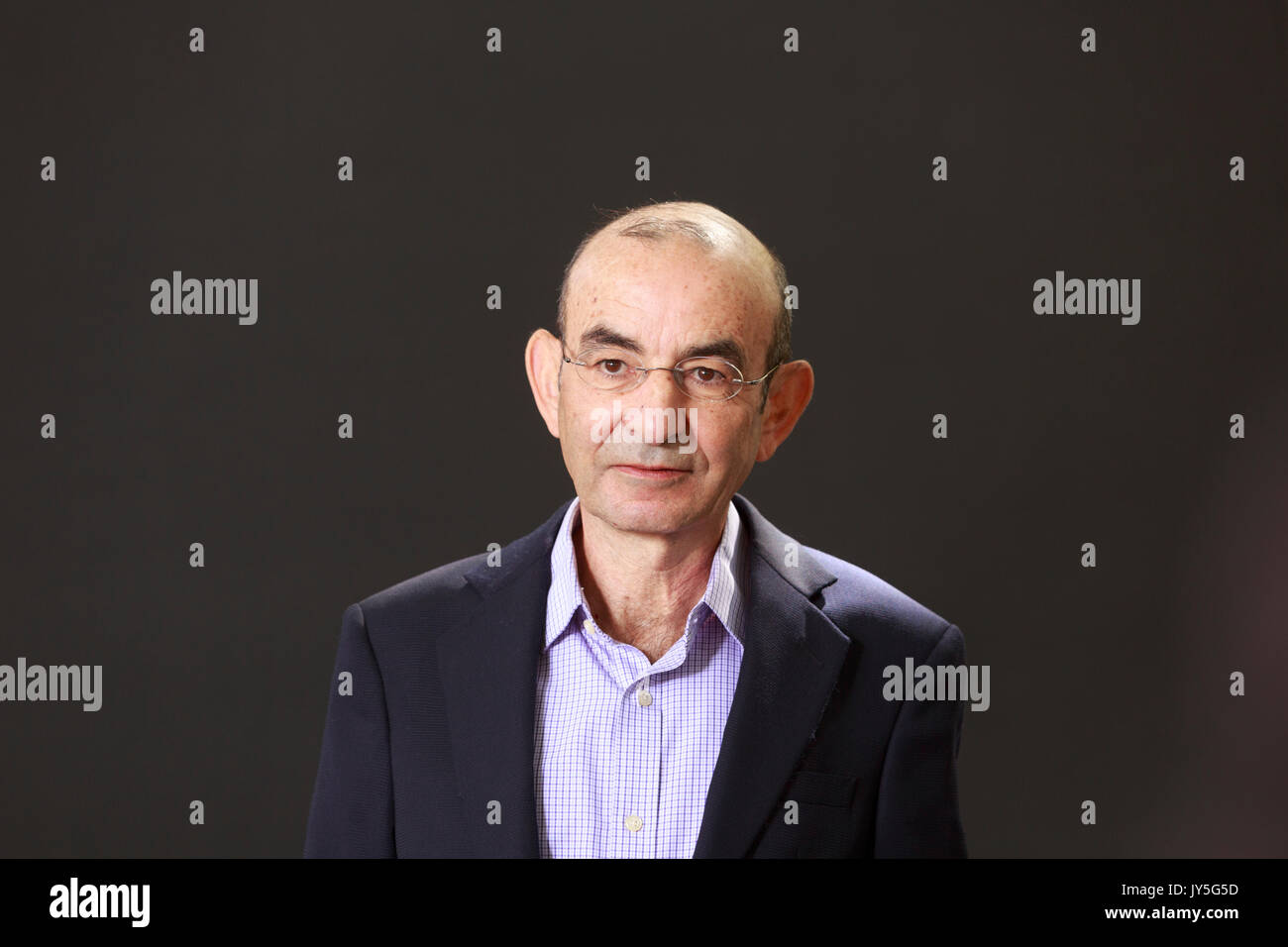 Edinburgh, Scotland 18th August. Day 7 Edinburgh International Book Festival. Pictured: Raja Shehadeh is a Palestinian lawyer and writer, who was born in Jaffa, Israel and who currently lives in Ramallah. Credit: Pako Mera/Alamy Live News - Stock Image