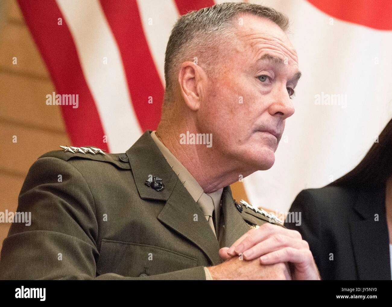 Tokyo, Japan. 18th Aug, 2017. U.S. Chairman of the Joint Chiefs Gen. Joseph Dunford during a meeting with Japanese Stock Photo