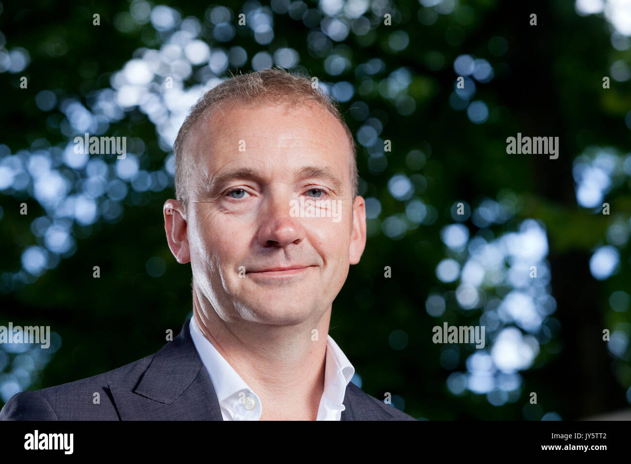 Edinburgh, UK. 19th Aug, 2017. Jerry Brotton, the author and internationally recognised expert in the history of cartography, appearing at the Edinburgh International Book Festival. Credit: GARY DOAK/Alamy Live News - Stock Image