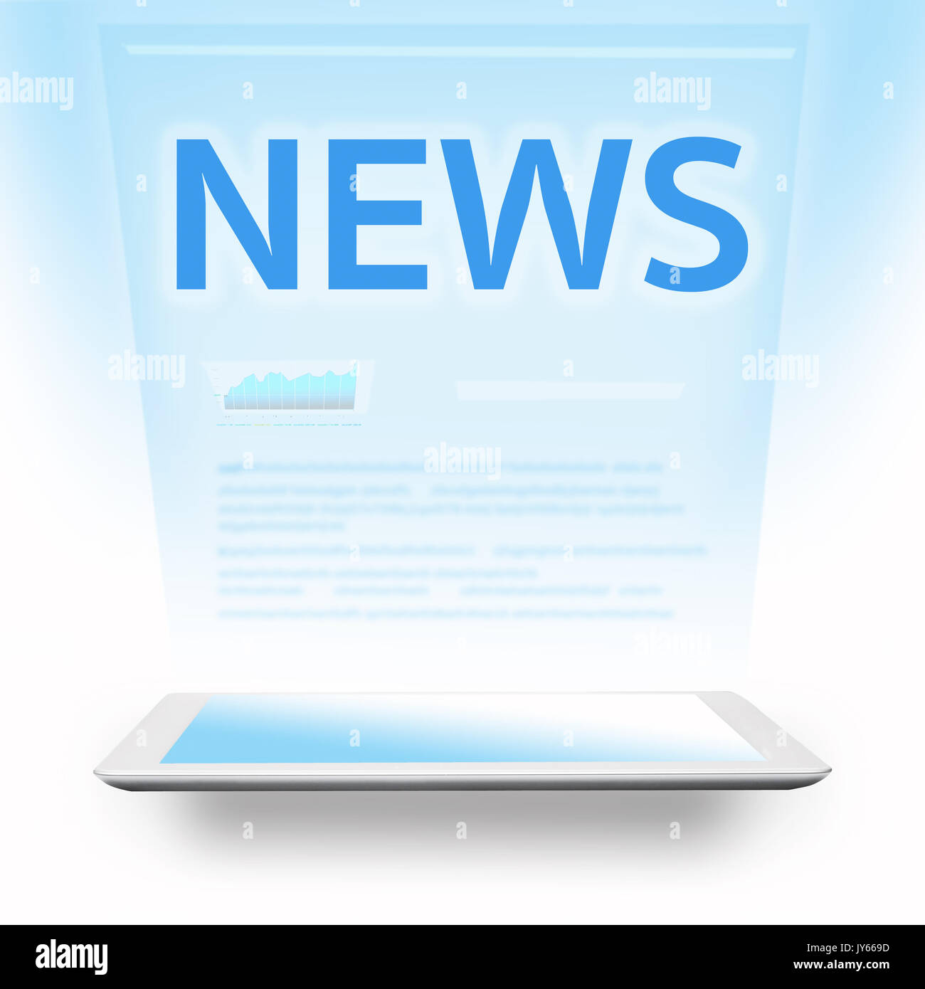 news topic with digital tablet - Stock Image