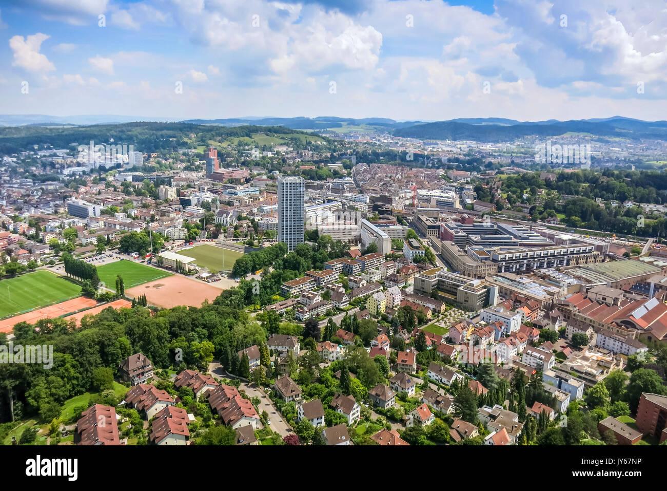 Luftaufnahme Stadt Winterthur *** Local Caption ...