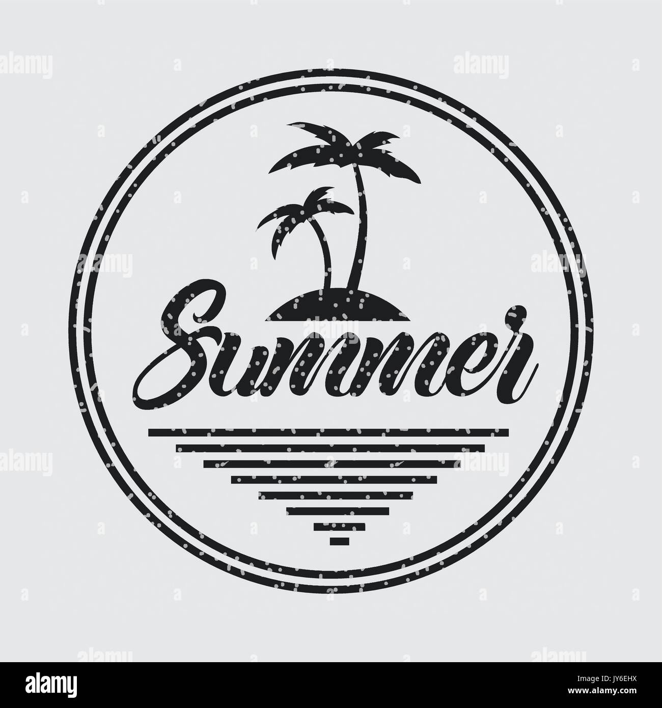 summer relax flat - Stock Vector
