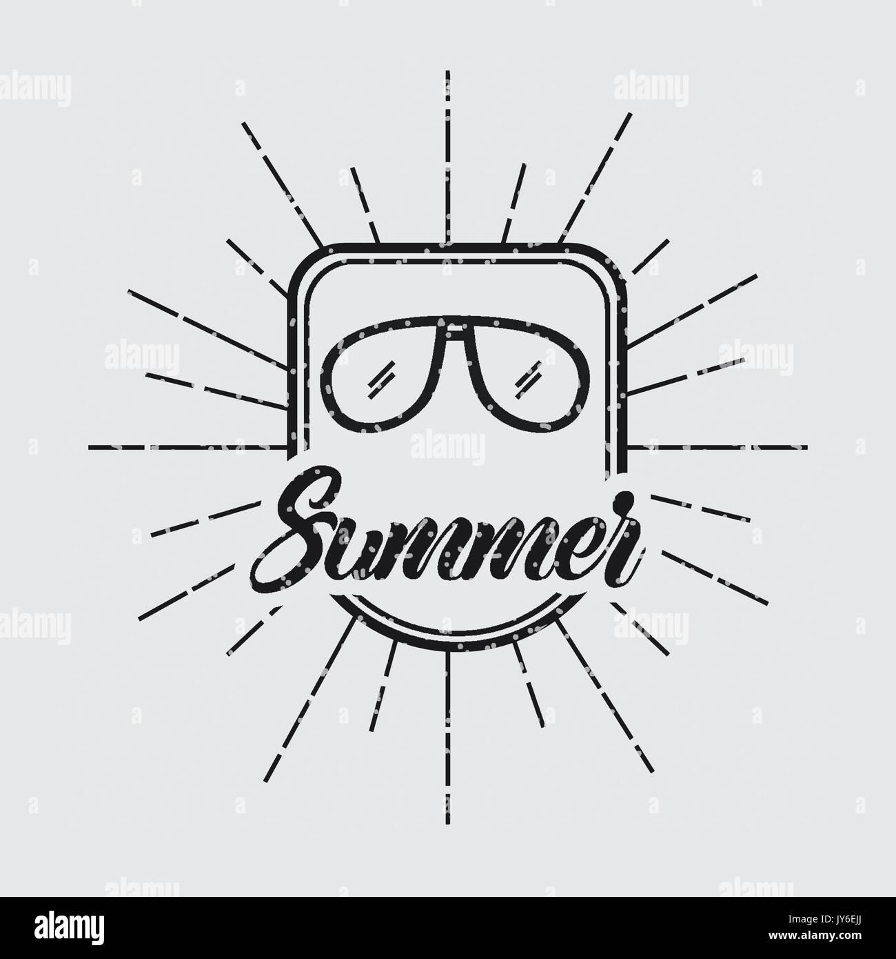 summer relax flat - Stock Vector