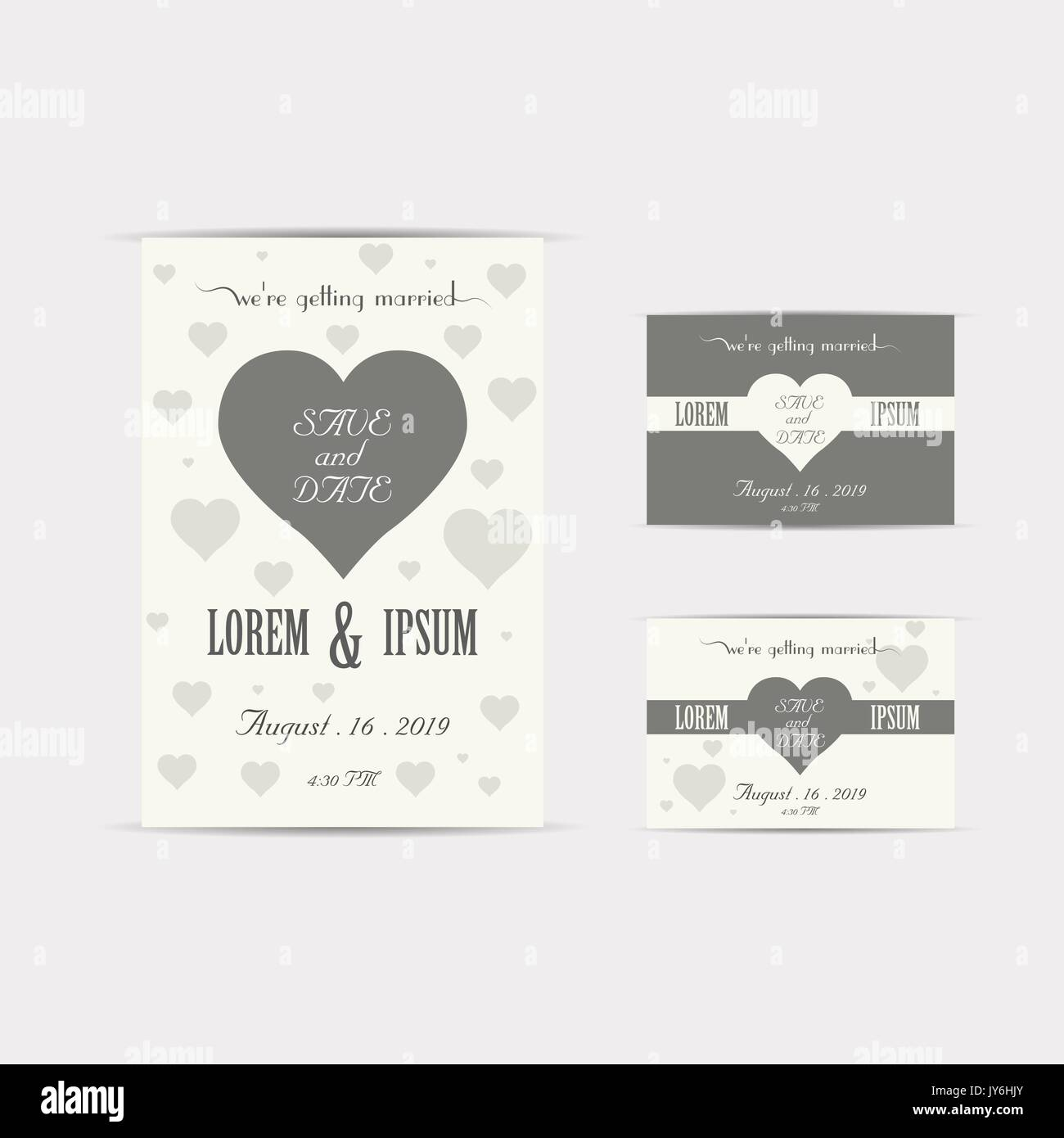 Wedding Invitation Card Vector Illustration Eps File