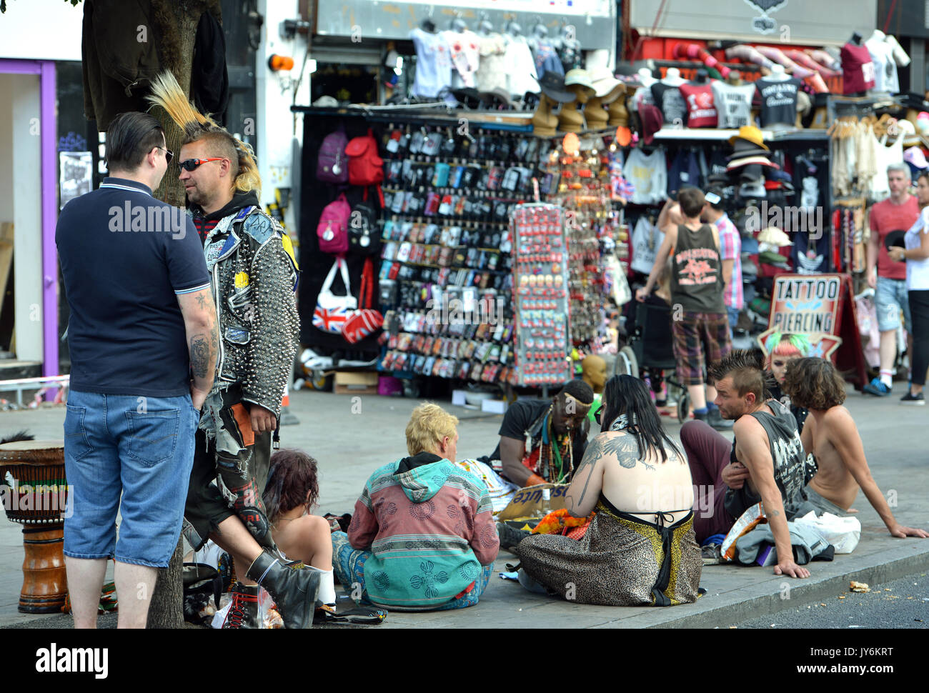 Group of young people in Camden, London. - Stock Image