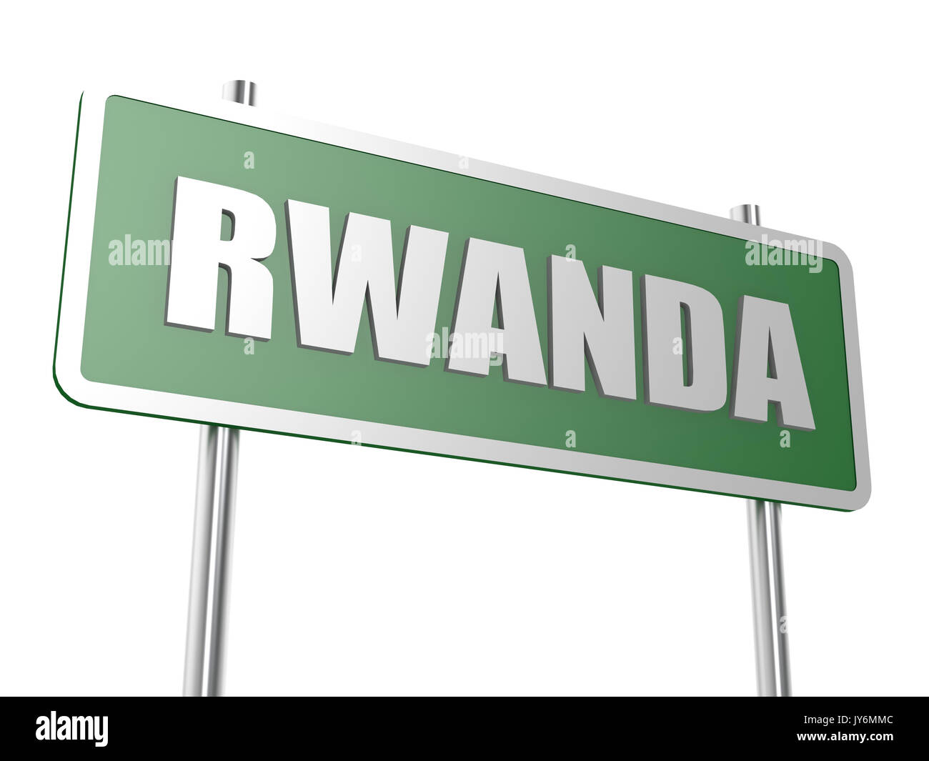 Rwanda image with hi-res rendered artwork that could be used for any graphic design. - Stock Image