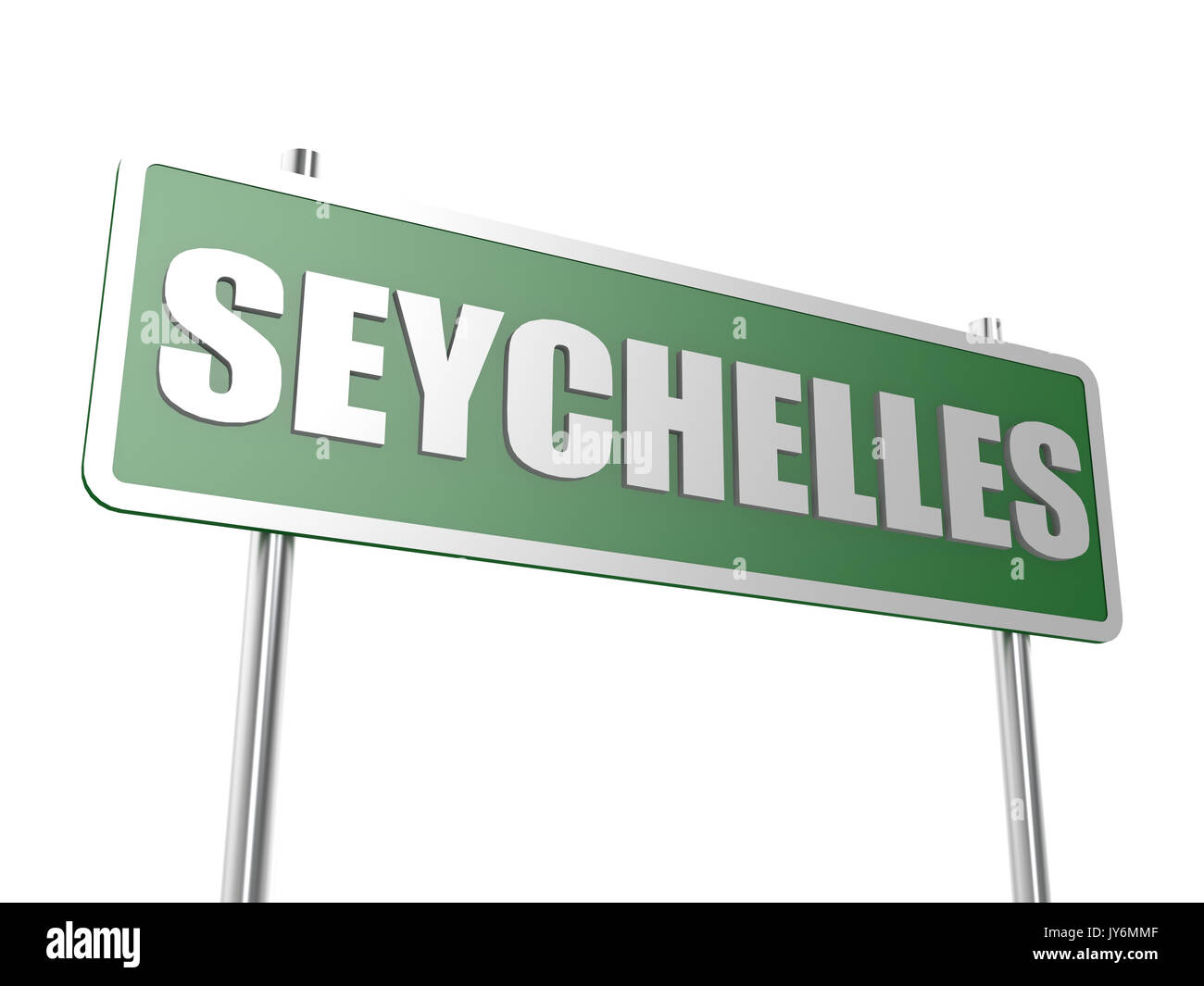 Seychelles image with hi-res rendered artwork that could be used for any graphic design. - Stock Image