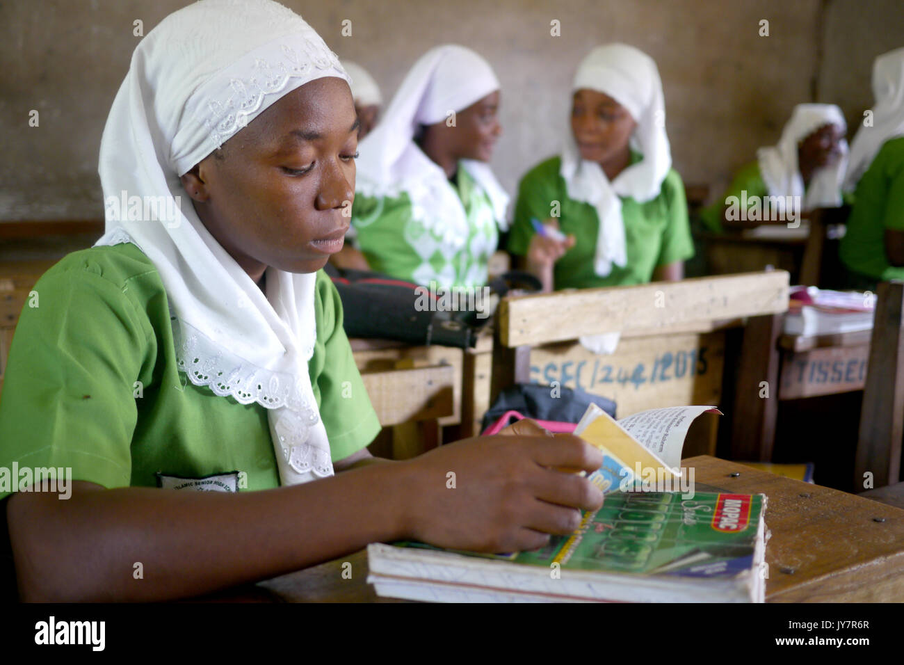 Girls in a school in Ghana, Africa - Stock Image