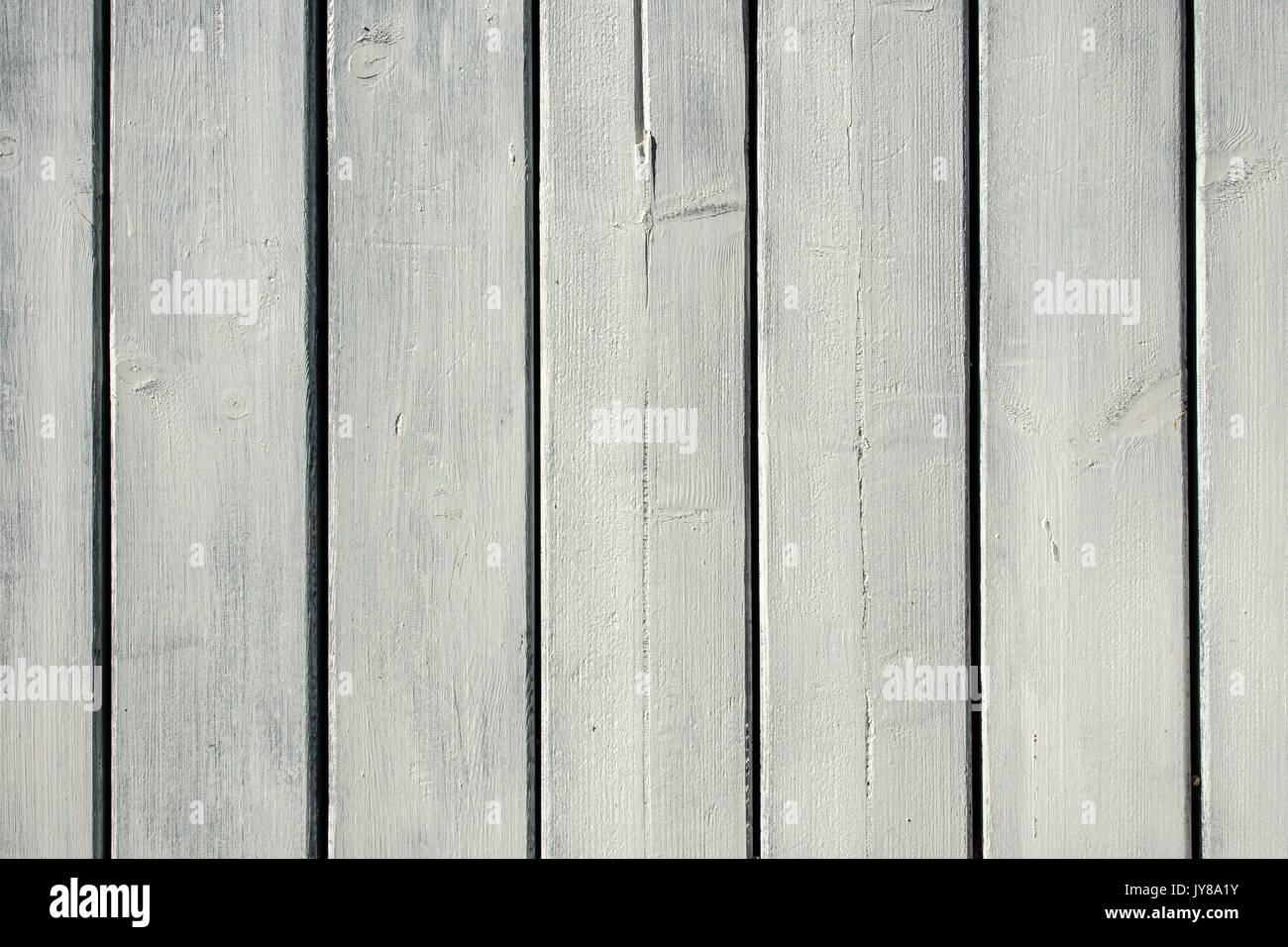 Whitewash painted wooden panel strips. - Stock Image