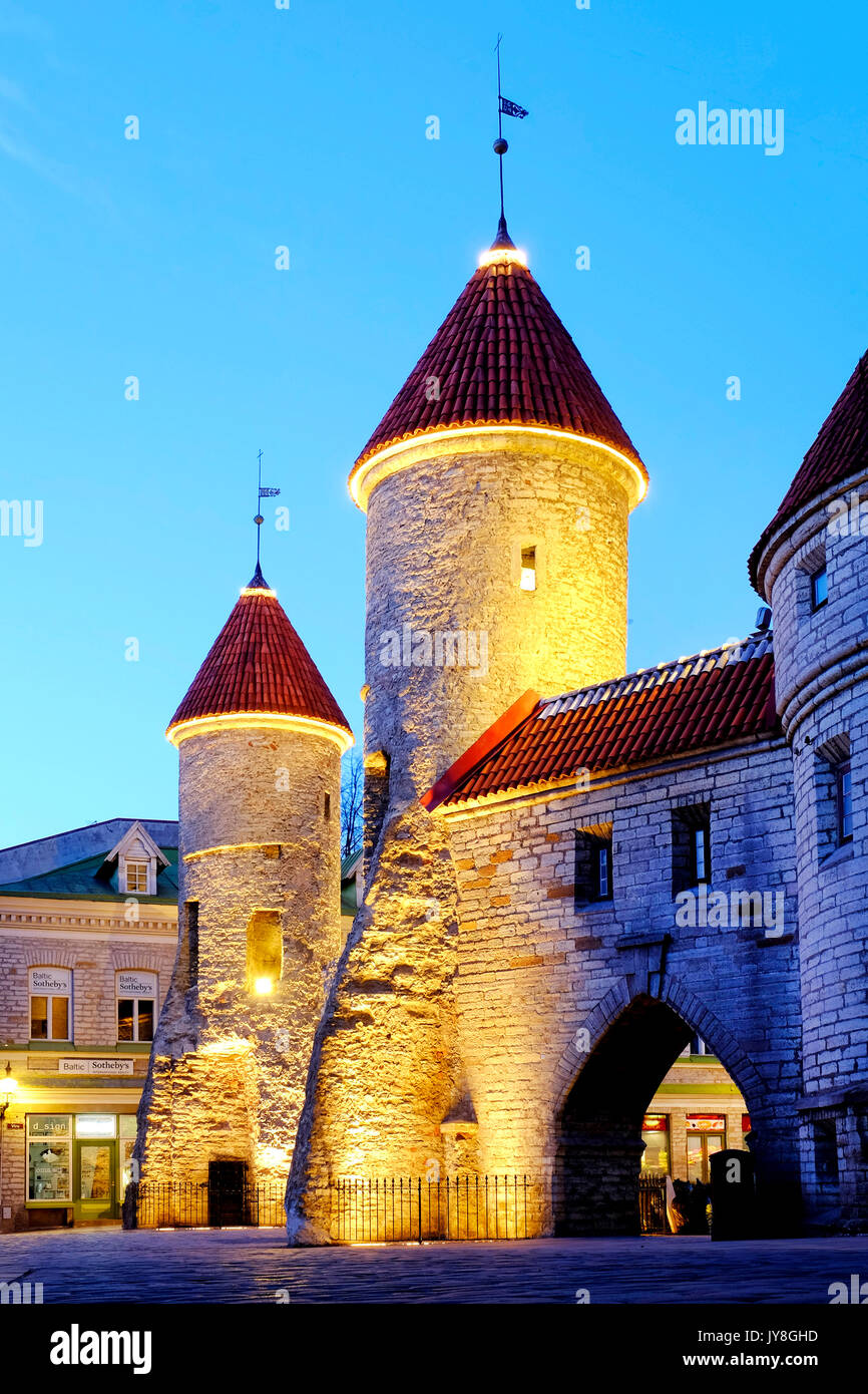The barbican of Viru Gate, Tallinn, Estonia - Stock Image