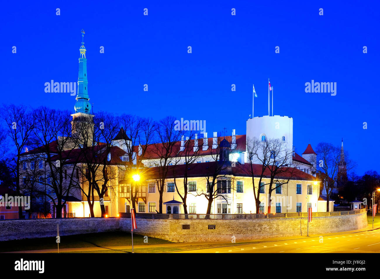 Riga Castle, Riga, Latvia - Stock Image