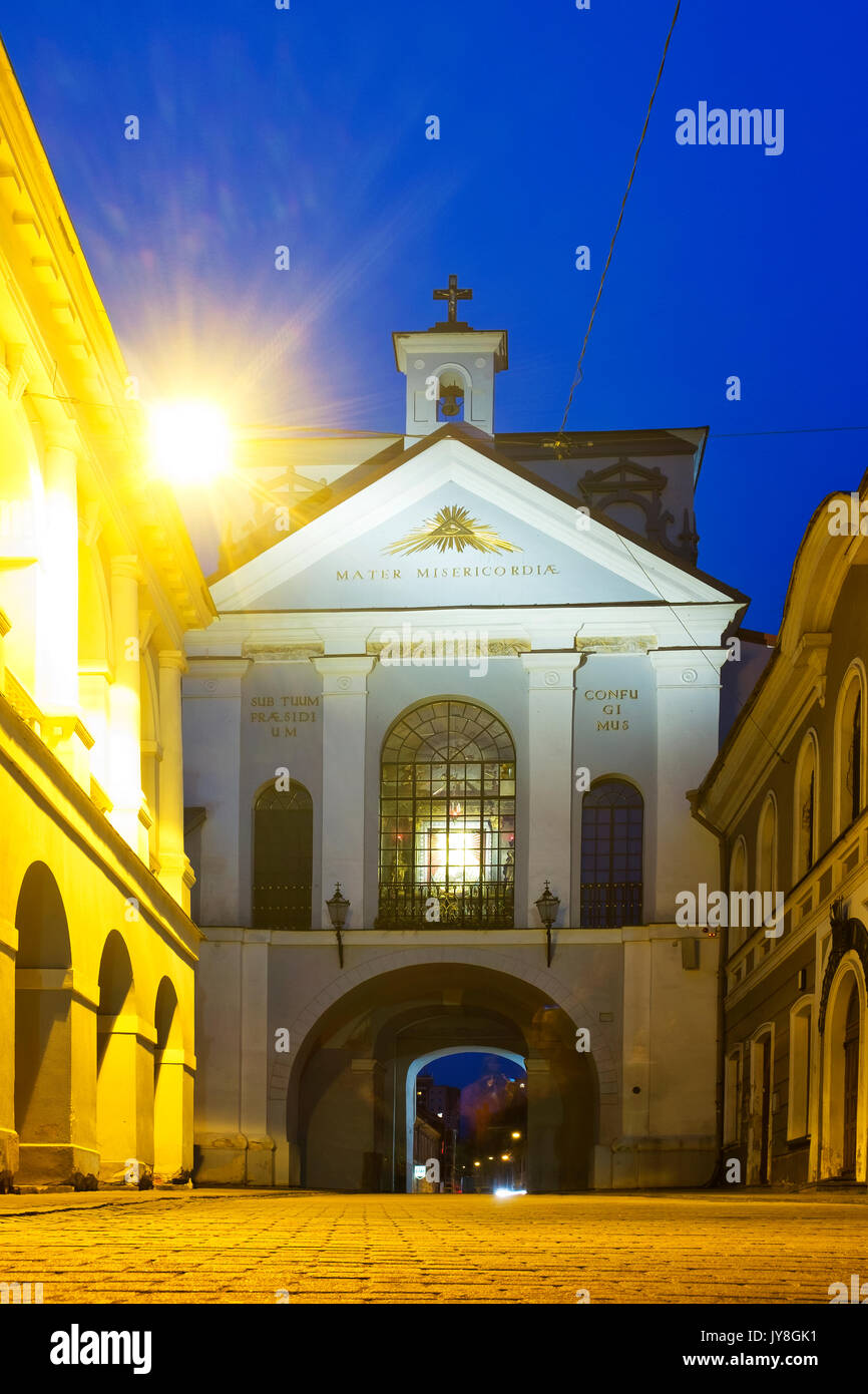 Gate of Dawn, Vilnius, Lithuania - Stock Image