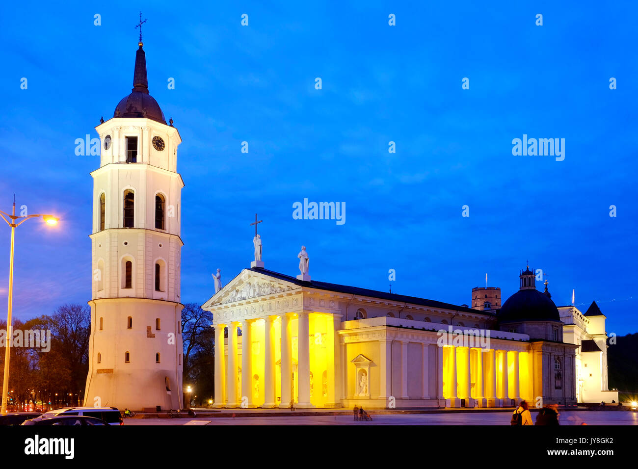 Cathedral Basilica of St Stanislaus and St Ladislaus, Vilnius, Lithuania - Stock Image