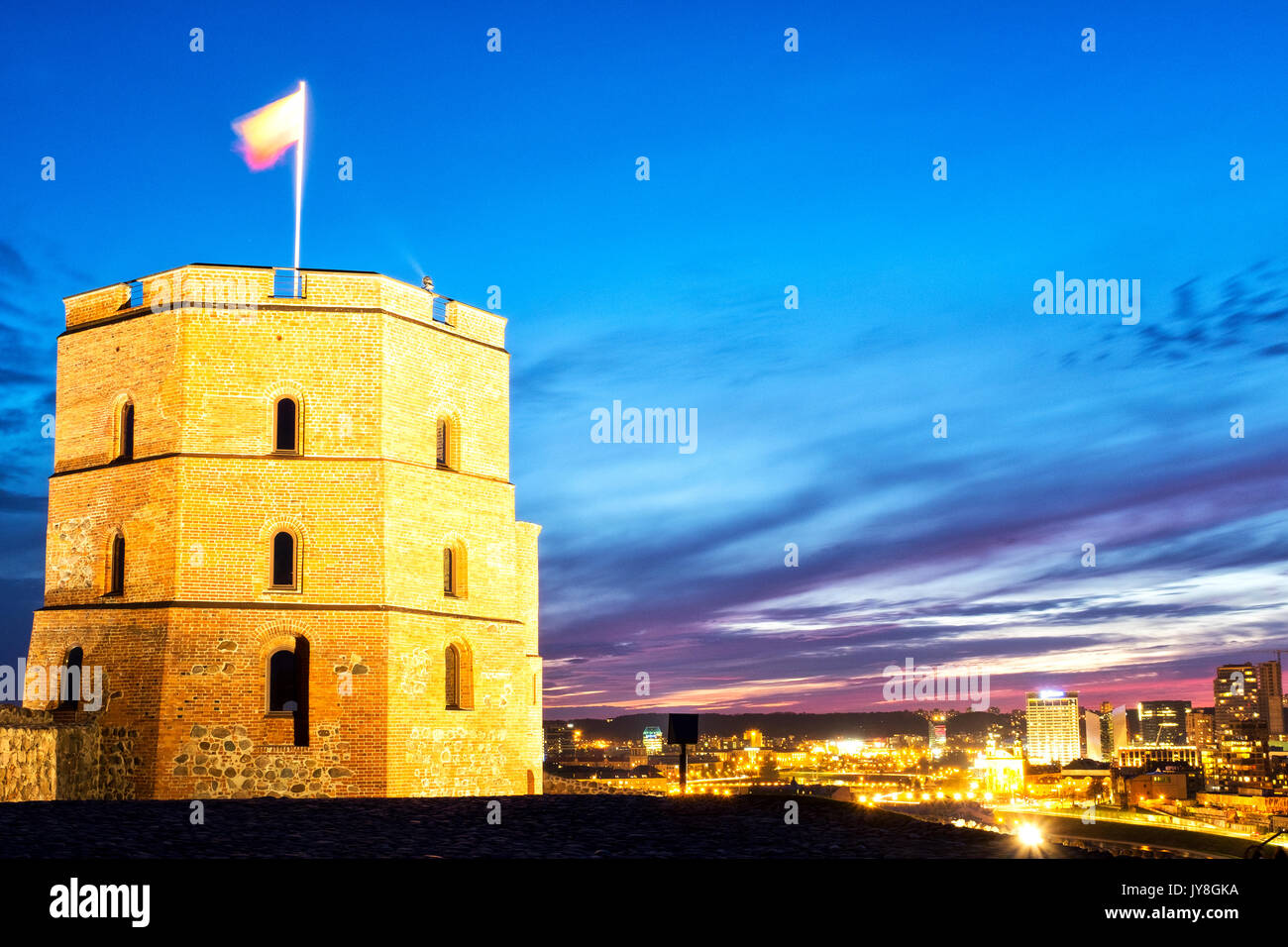 Gediminas Tower, Vilnius, Lithuania - Stock Image