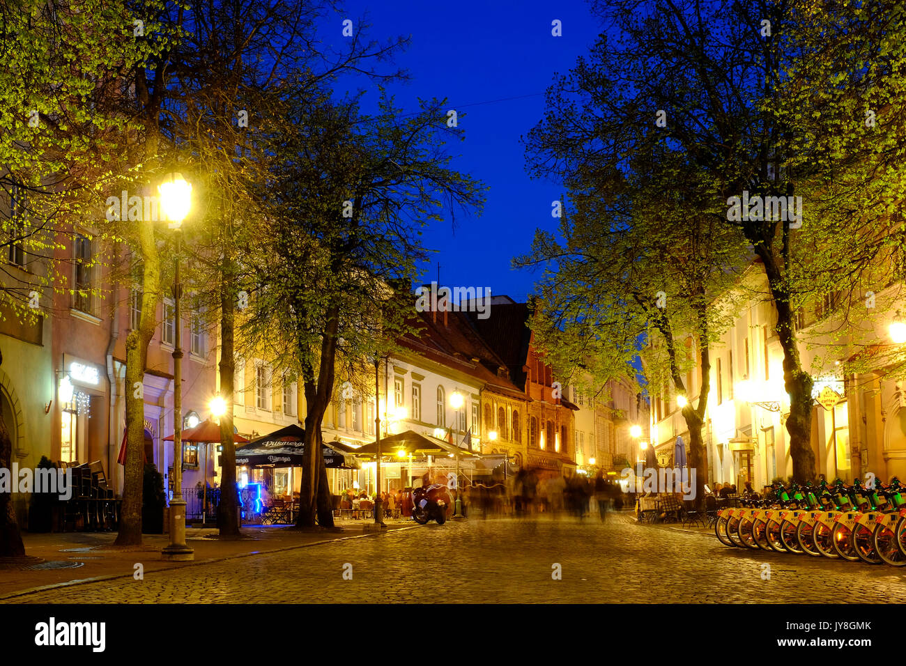 Pilies street, Vilnius, Lithuania - Stock Image