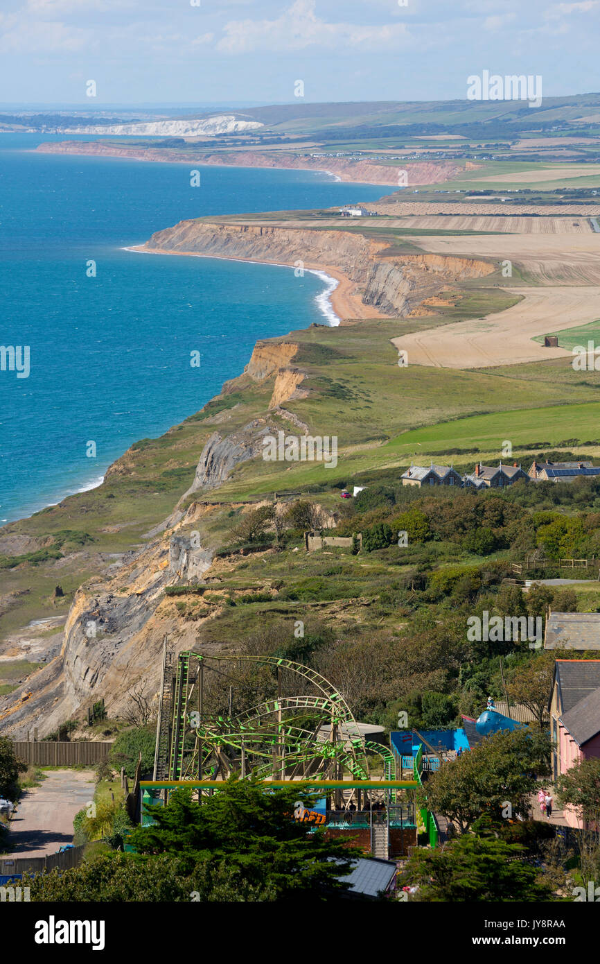 Blackgang, Chine, Chale, Atherfield, Compton, Bay, Freshwater, South, Coast, Isle of Wight, England, UK, - Stock Image