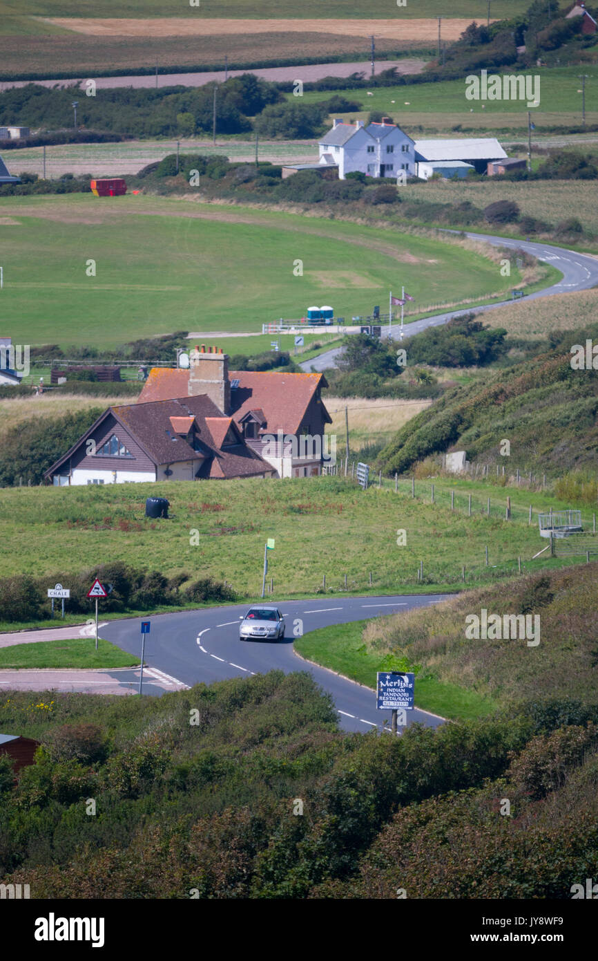Military, Road, Blackgang, Chine, Chale, Village, Isle of Wight, England, UK, - Stock Image