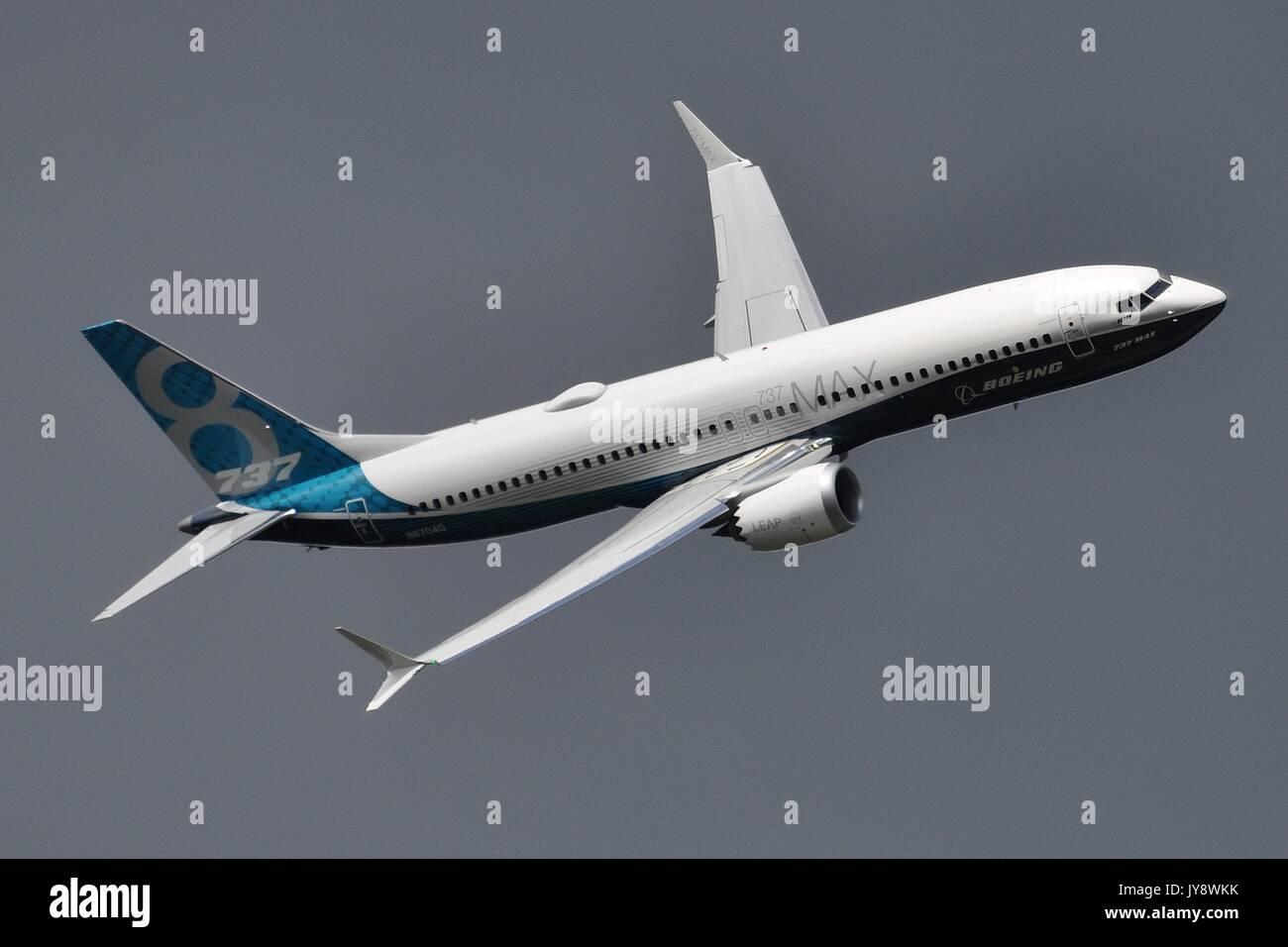 BOEING 737 MAX8 DEMONSTRATOR N8704Q - Stock Image