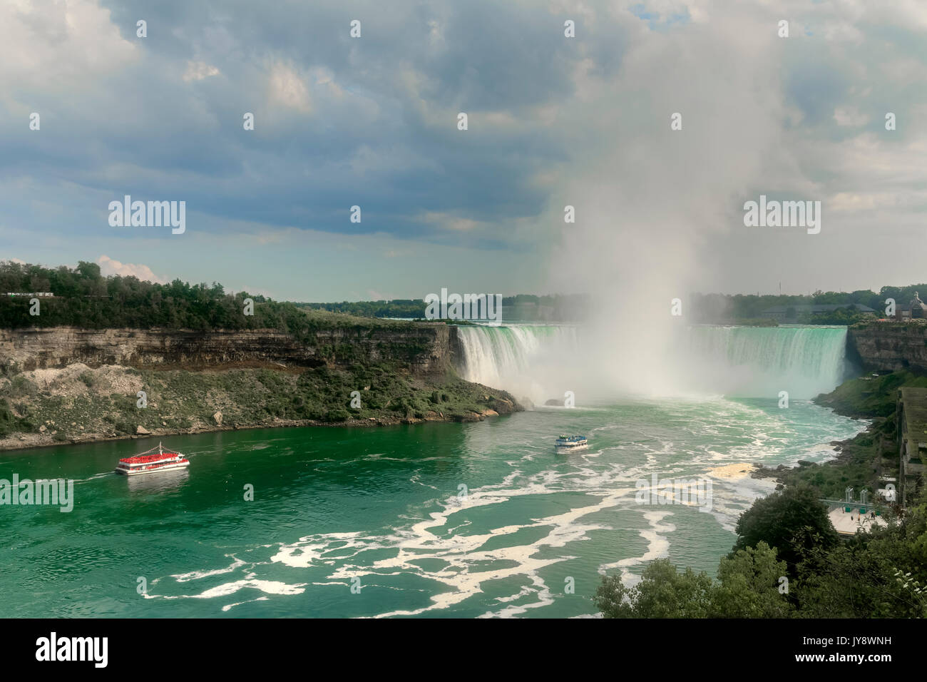 Niagara Falls, Ontario, New York, Canada, United States - Stock Image