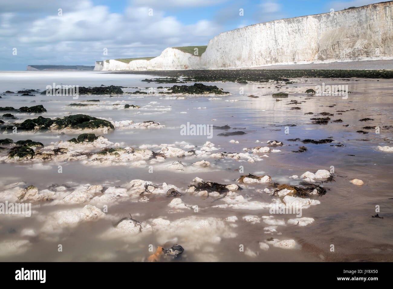 Seven Sisters, South Downs, East Sussex, England, UK - Stock Image