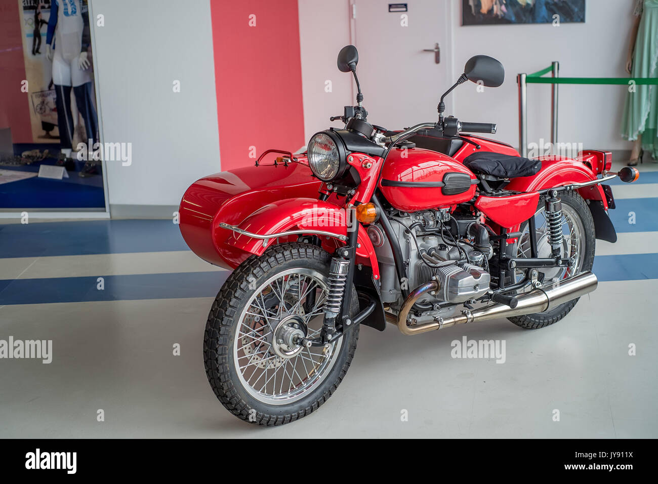 SOCHI, RUSSIA - APRIL 23, 2017, motorcycle Ural - Stock Image