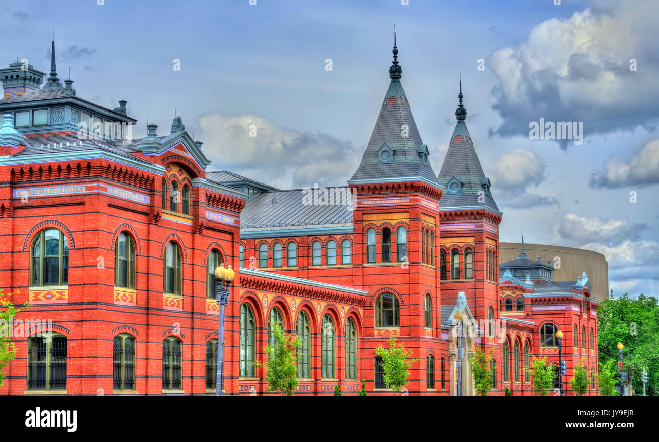 Arts and Industries Building of the Smithsonian museums in Washington, D.C. - Stock Image
