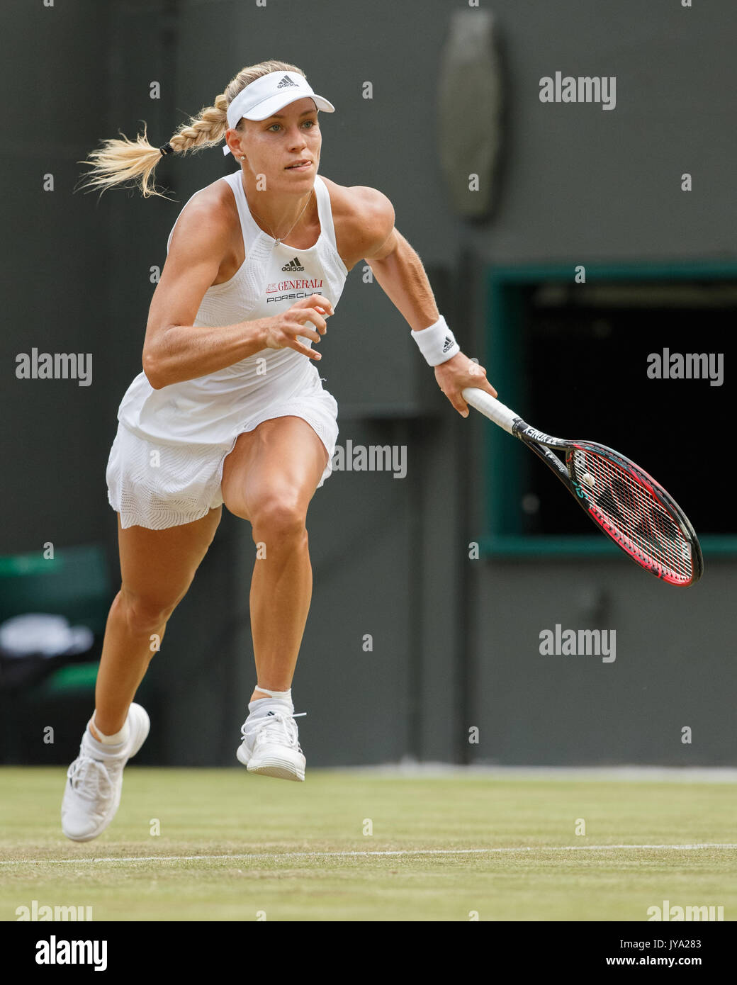 ANGELIQUE KERBER (GER) in action at Wimbledon - Stock Image