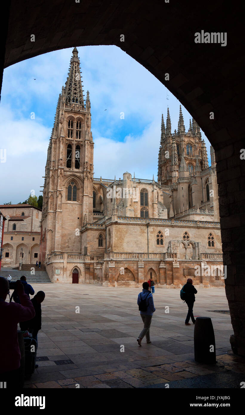Cathedral at Burgos in Spain. - Stock Image