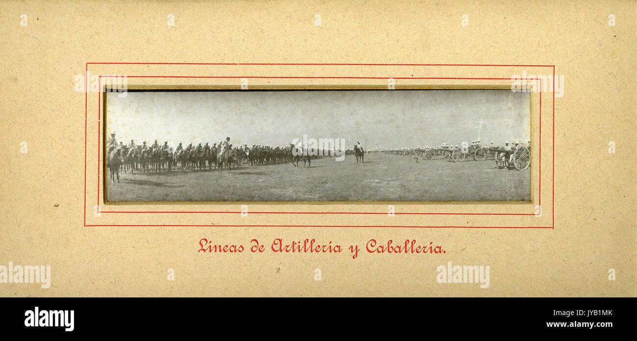 Lineas de Artilleria y Caballeria. - Stock Image