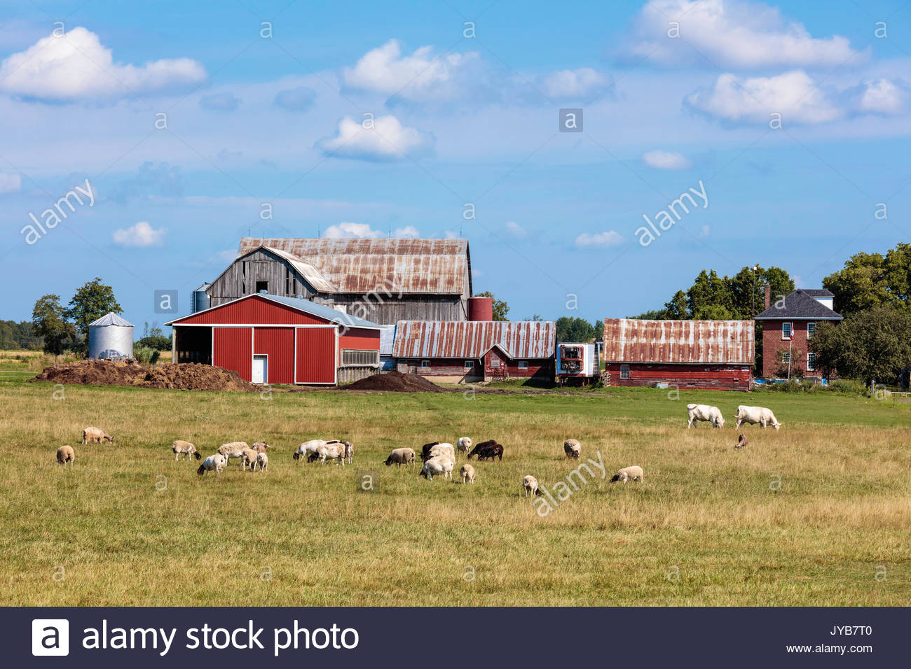 Farm building ontario canada stock photos farm building for Barn builders ontario