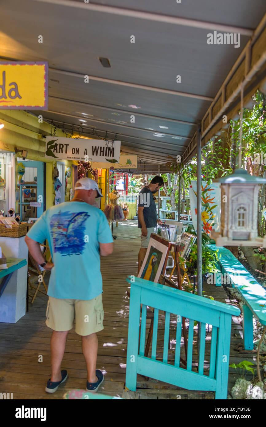 The Rain Barrel Artisan Village on Islamorada Key in the Florida Keys - Stock Image