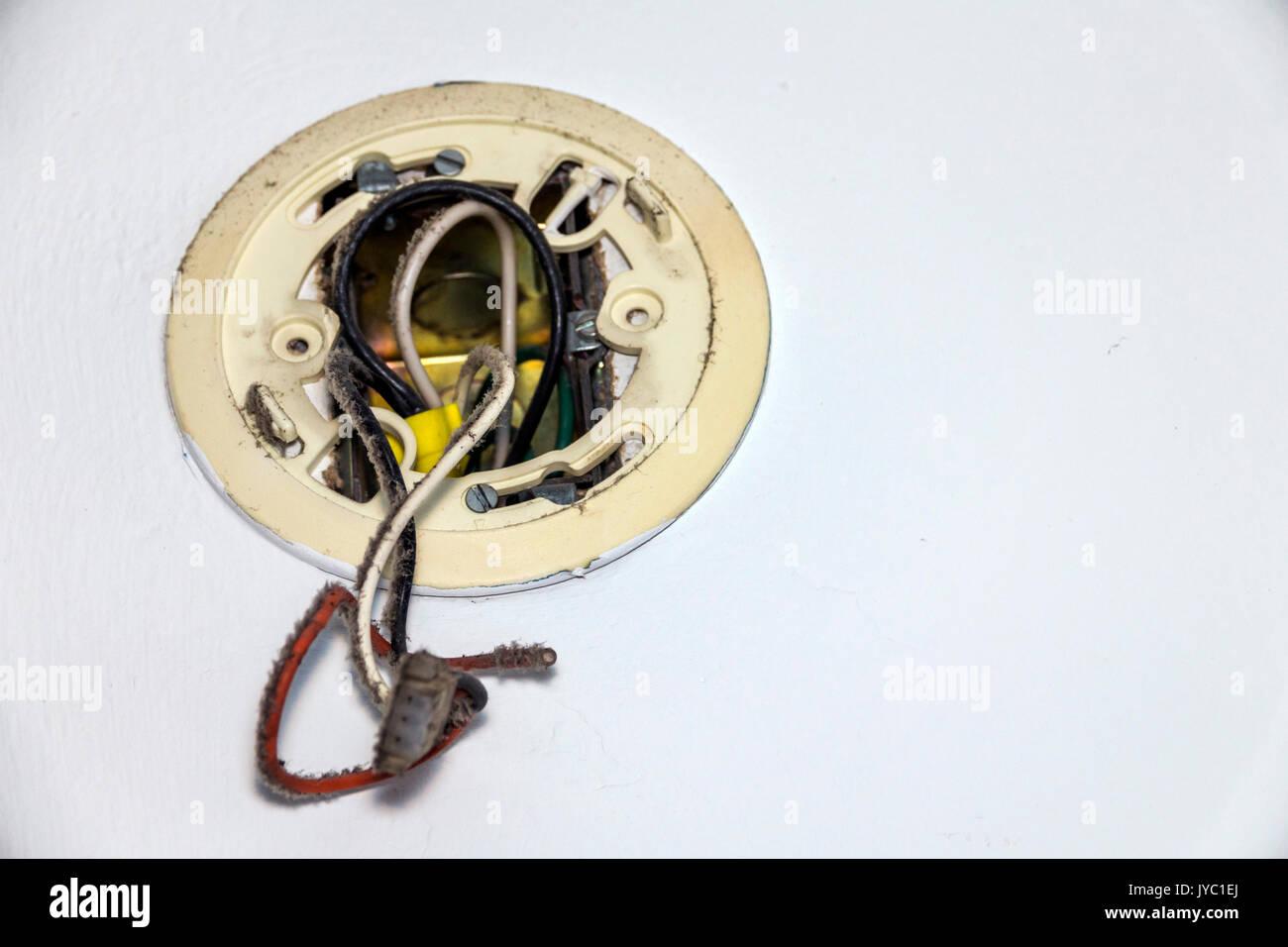 Fantastic Dusty Smoke Alarm Electrical Connection Dirty Detached Stock Photo Wiring 101 Ziduromitwellnesstrialsorg