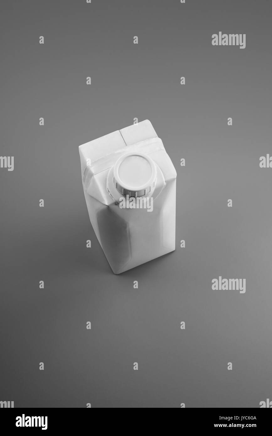 pattern white packaging for design on gray background - Stock Image