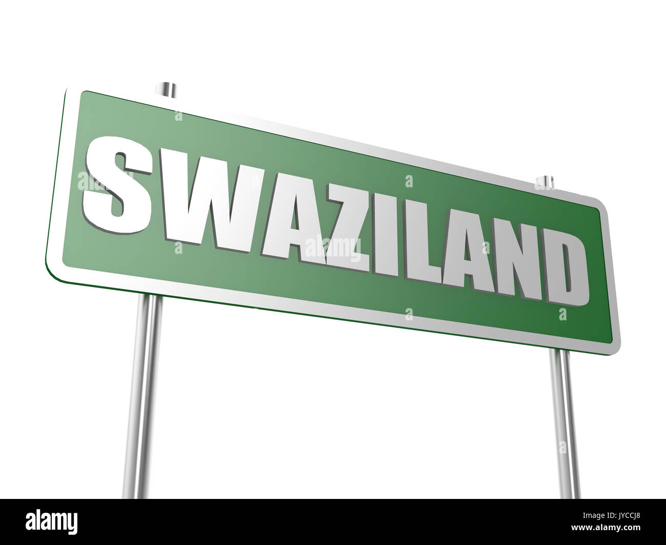 Swaziland image with hi-res rendered artwork that could be used for any graphic design. Stock Photo
