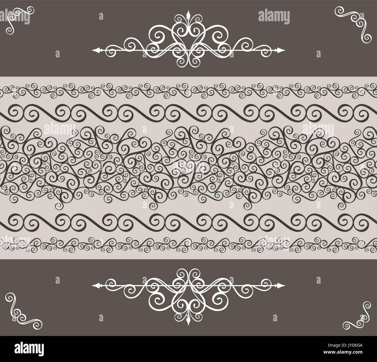 Calligraphy Ornaments Border And Design Elements For Page Decoration Vector Format Very Easy To Edit Individual Objects