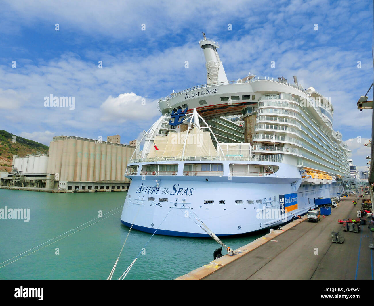 Barcelona, Spain - September 06, 2015: The cruise ship Allure of the