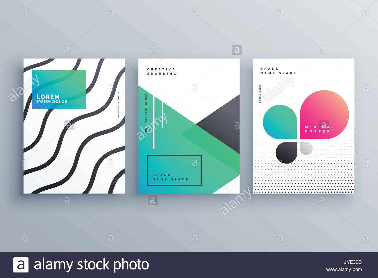 Minimal Brochure Flyer Cover Page Design For Your Business Stock