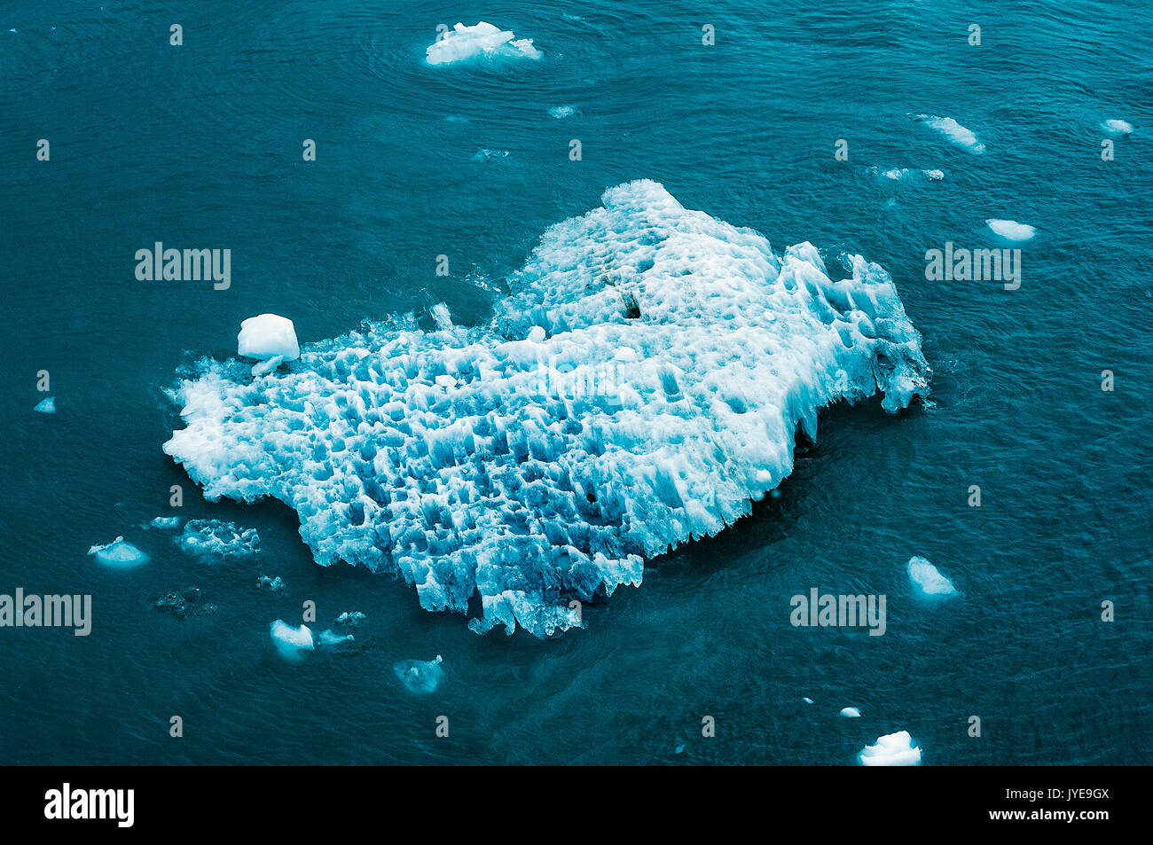 Iceberg floating in ocean, Alaska, USA. - Stock Image