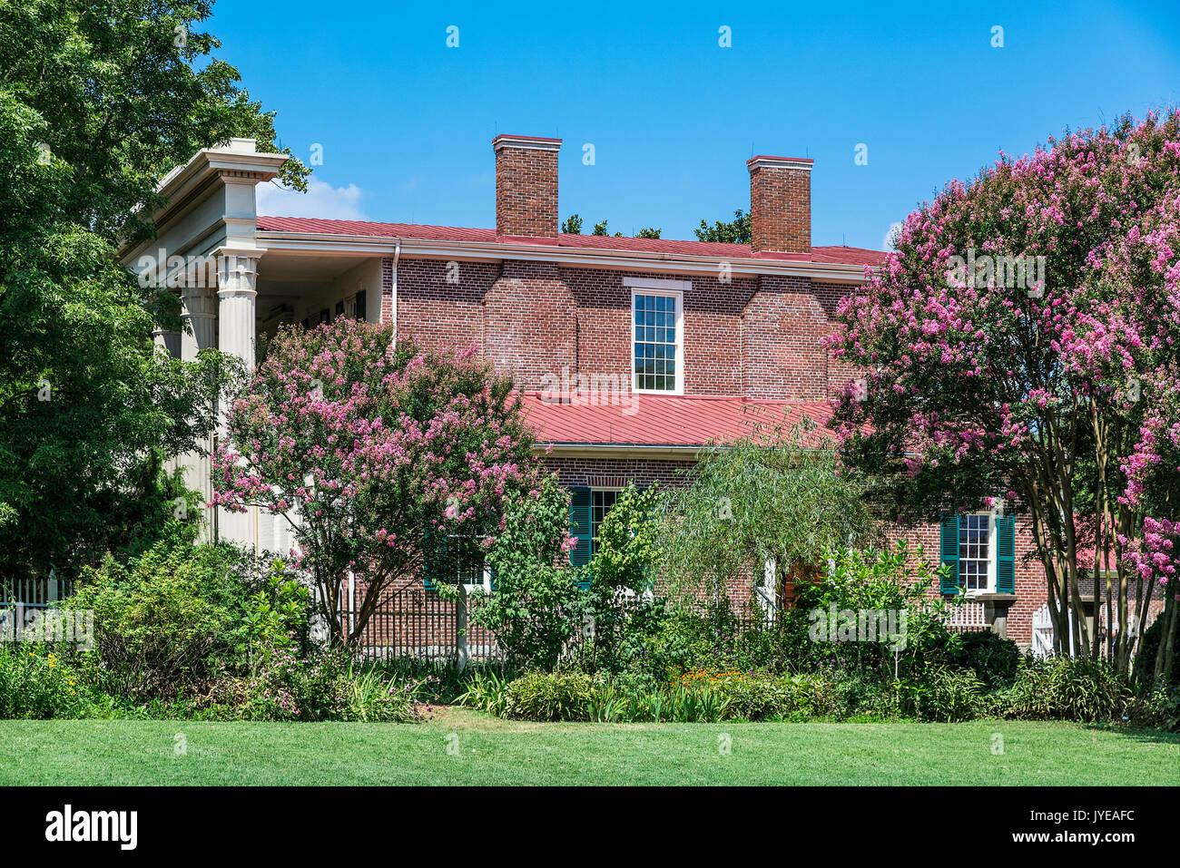 The Hermitage is a historical plantation and museum which was previously the home of President Andrew Jackson, Tennessee, USA. - Stock Image