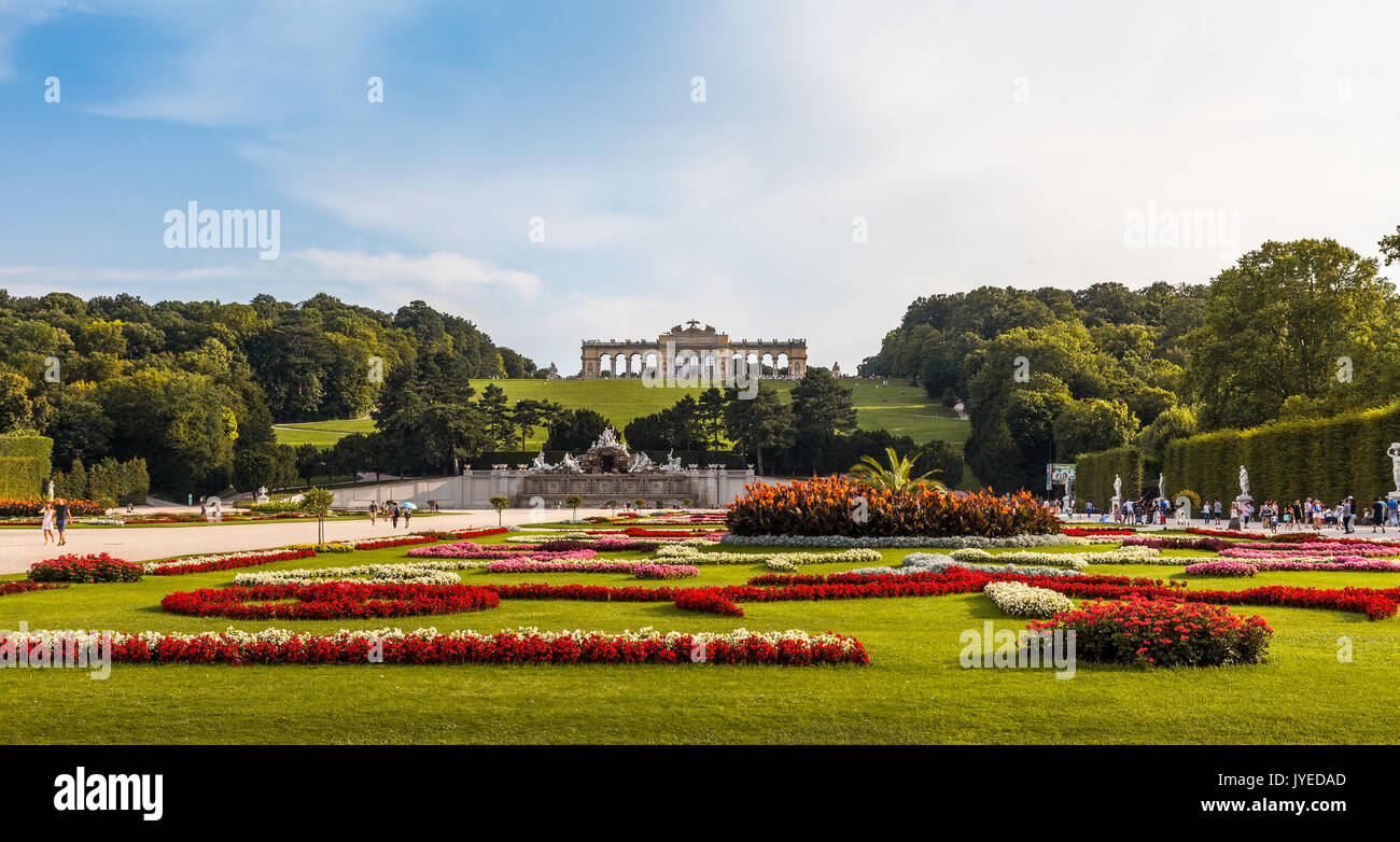 Schonbrunn Palace, UNESCO world heritage site, Vienna, Austria. - Stock Image