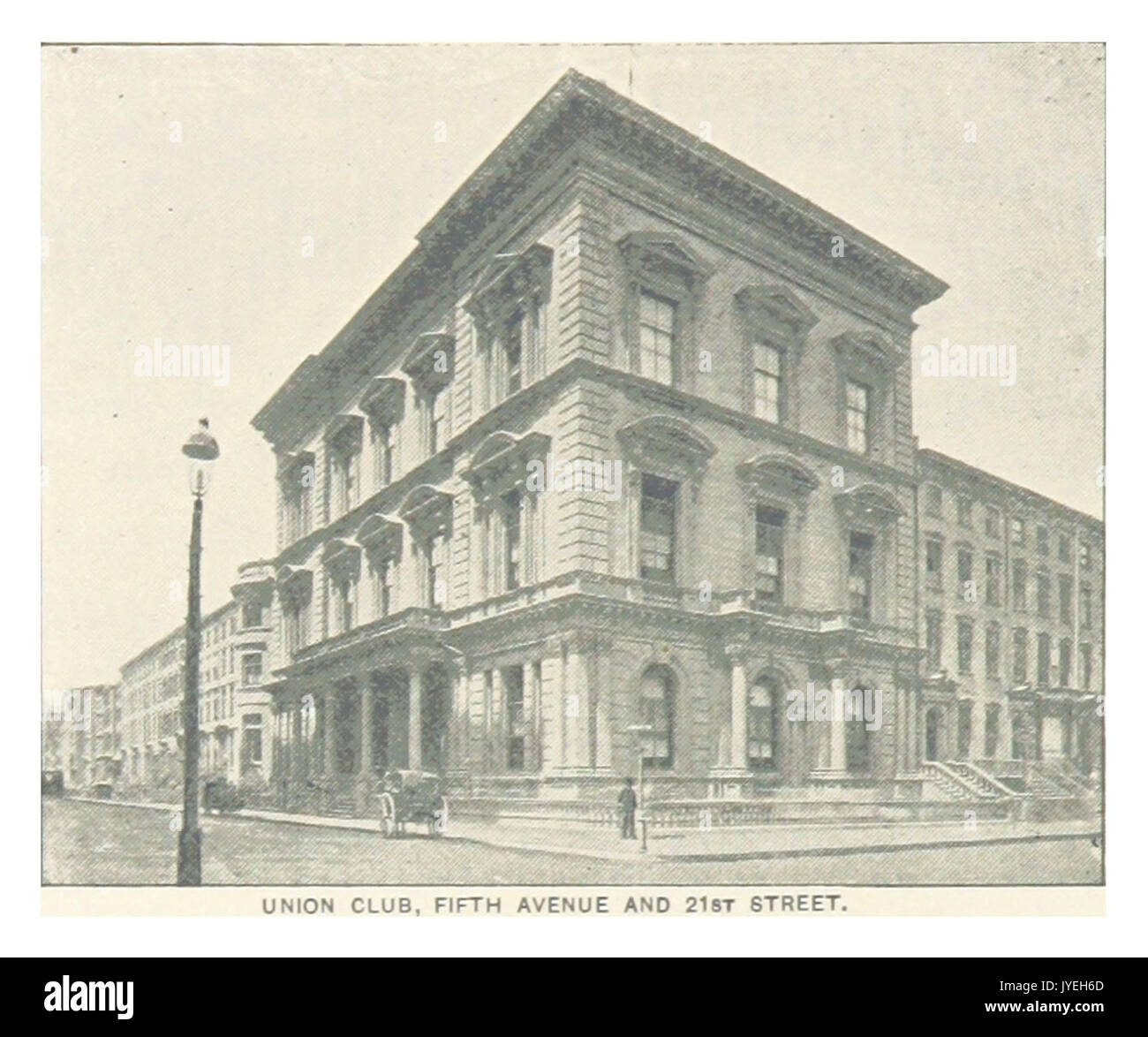 (King1893NYC) pg550 UNION CLUB, FIFTH AVENUE AND 21ST STREET - Stock Image