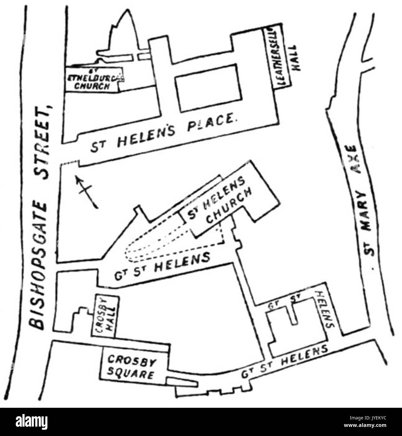 1834 Map Cornhill Threadneedle St A Plan Of The 1765 Bishopsgate Street Fire