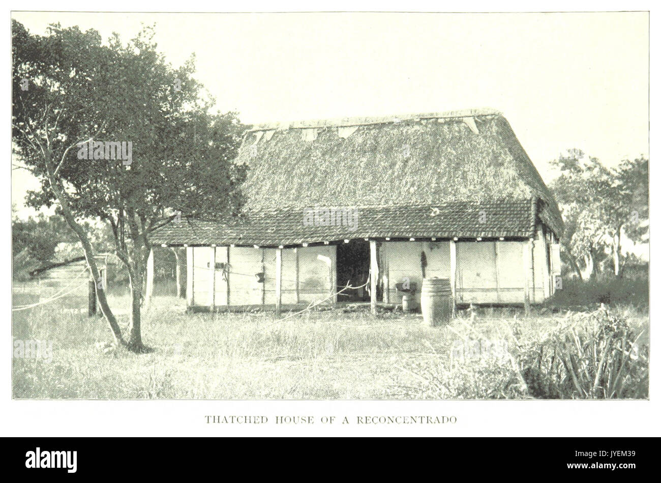 CLARK(1899) Cuba p309   THATCHED HOUSE OF A RECONCENTRADO - Stock Image
