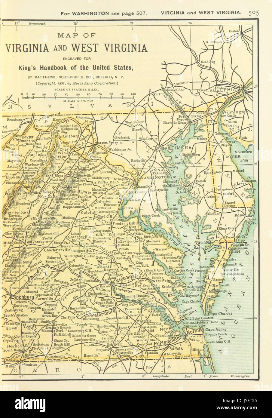 US MAPS(1891) p507 MAP OF VIRGINIA AND WEST VIRGINIA (r ...