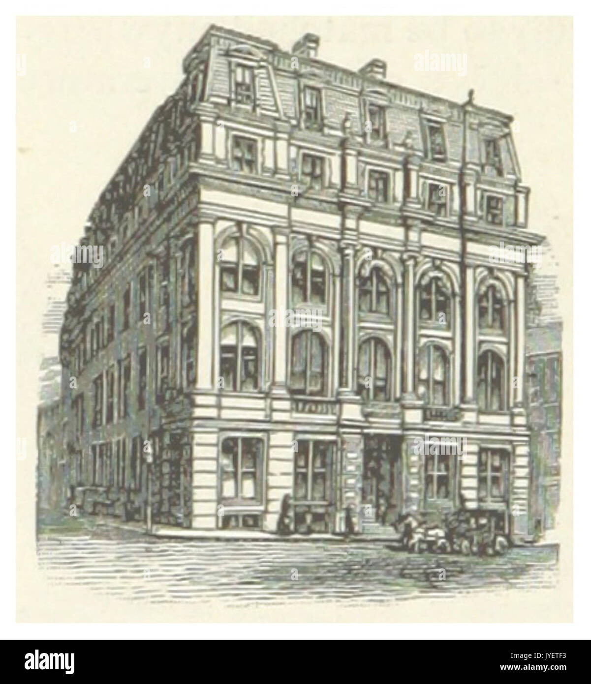 US MA(1891) p378 BOSTON, MERCHANT'S NATIONAL BANK - Stock Image