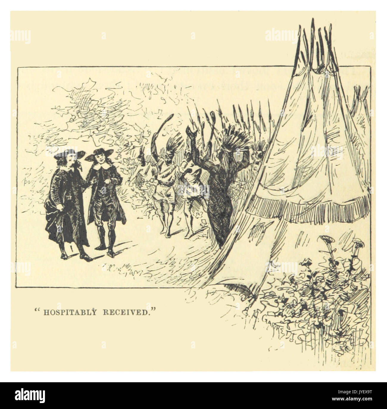 MARK TWAIN(1883) p040   HOSPITABLY RECEIVED - Stock Image