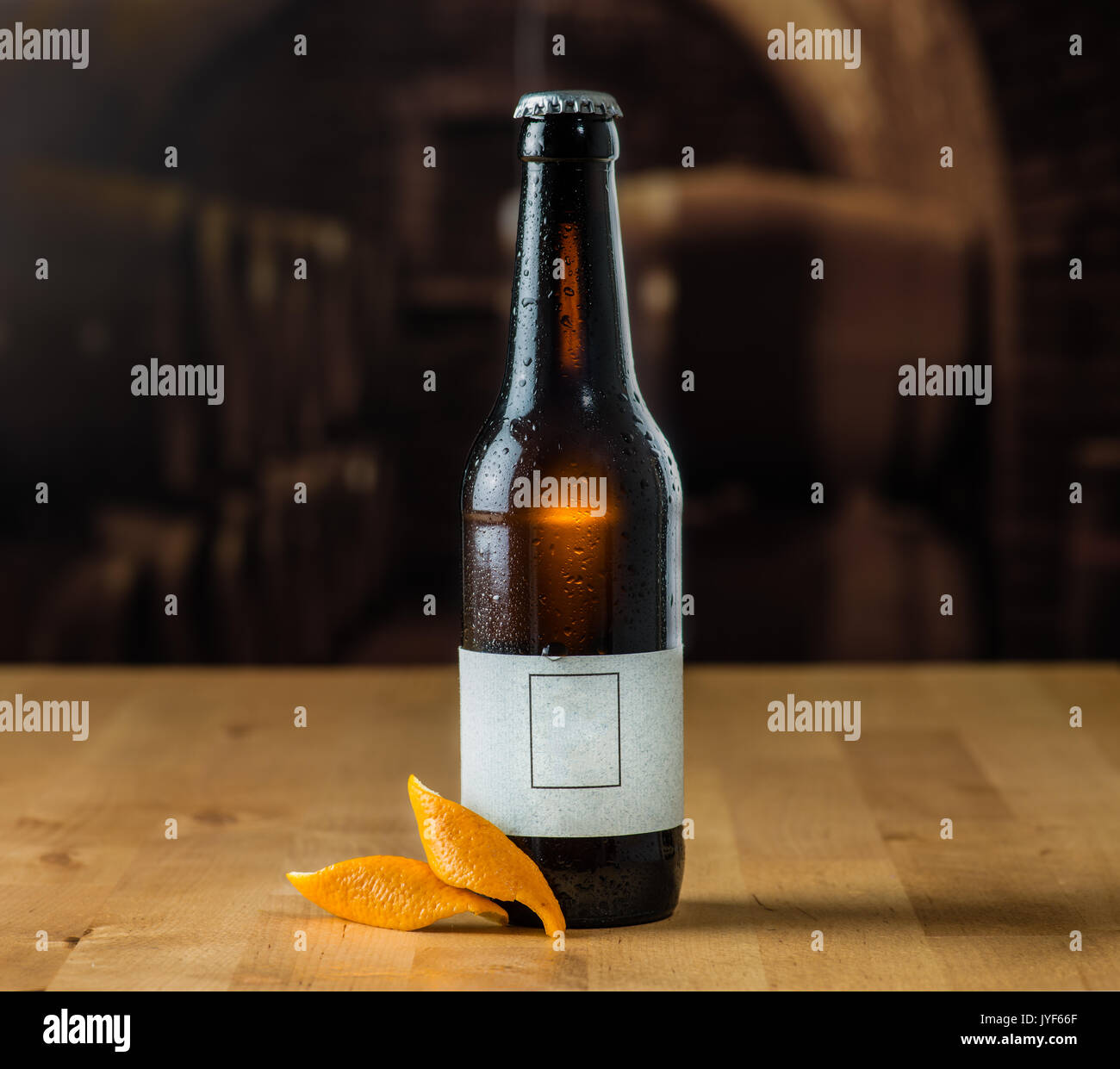 Refreshing cold craft beer - Stock Image
