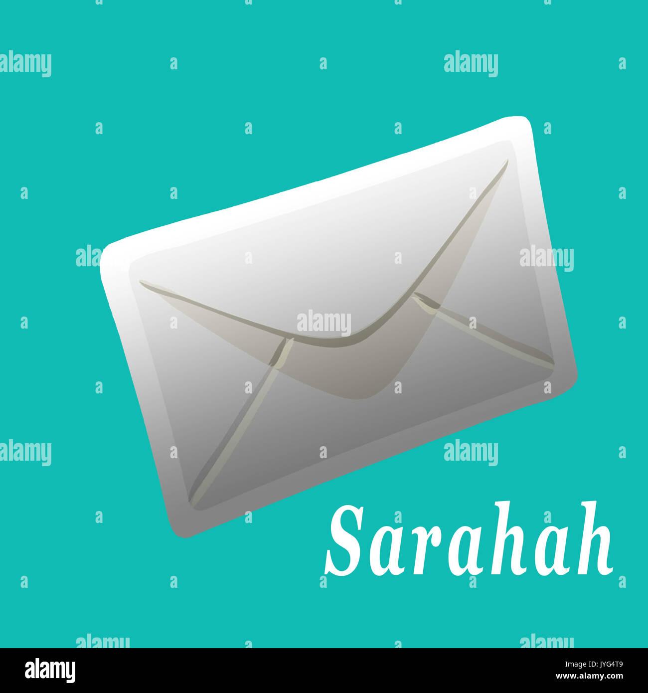 Sarahah anonymous smart phone app - Stock Image