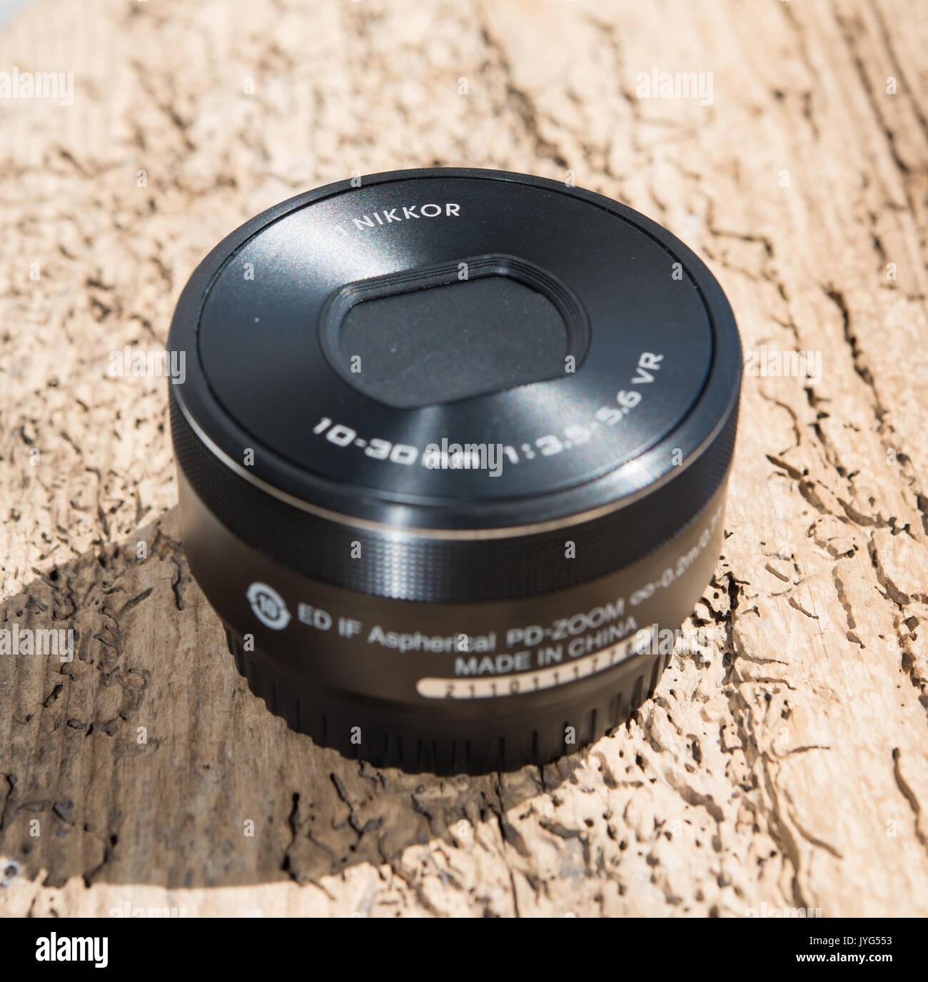 Nikon 1 Nikkor 10-30mm lens - Stock Image